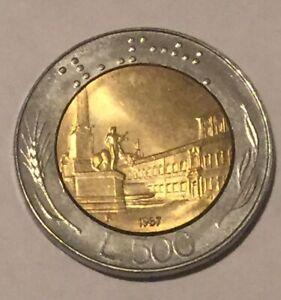 Italian Repvbblica Italiana L 500 Coin