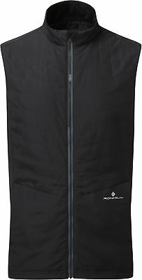 Treu Ronhill Stride Winter Mens Running Gilet - Black