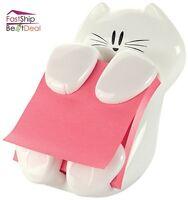 Post It Pop Up Note Dispenser Cat Figure Holder Pad Self Stick Office Supplies
