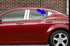 2008-2014 Dodge Avenger Rear Triangle 2Pc Chrome Pillar Post Stainless Steel