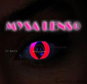 Crazy-UV-Ultra-Violet-Coloured-Contact-Lenses-Kontaktlinsen-Red-Cat-UV