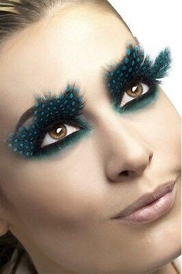Large Aqua Dots Feather Eyelashes New Adult Halloween Cristmas Women Sexy Makeup