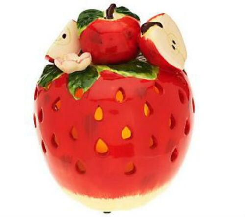 Table APPLE Fruit Decoration Luminary w// Flameless Candle QVC H199012