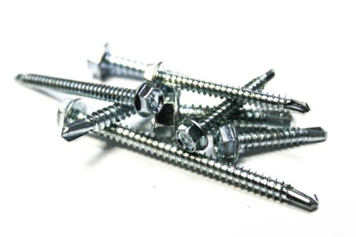 Zinc 500 12x2-1//2 Unslotted Hex Head Self-Drilling Sheet Metal Screws