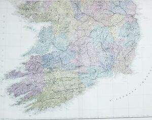 Map Of South Ireland.Details About 1883 Large Map Ireland South Limerick Cork Tipperary Queens County Wicklow