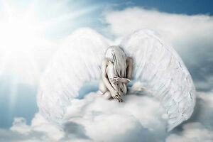 Impresionante-celestial-Alas-de-angel-Lona-626-Calidad-De-Imagen-Lienzo-Pared-Arte-A1