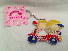 Sanrio Patty & Jimmy scooter Metal Keychain key ring chain