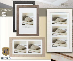 bilderrahmen woodframe aus holz in wei schwarz braun grau mit passepartout ebay. Black Bedroom Furniture Sets. Home Design Ideas
