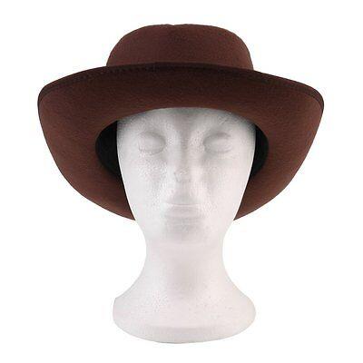 Vintage Hard Felt Hat Wide Brim Fedora Trilby Panama Hat Gangster Cap E5@