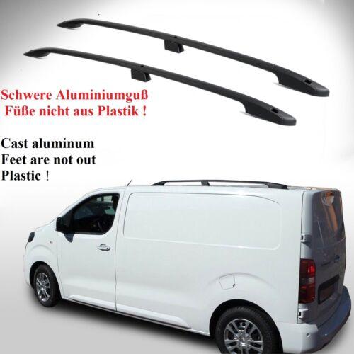 Peugeot Expert L1 ab Baujahr 2016 Aluminium Dachrelinge schwarz mit TÜV und ABE