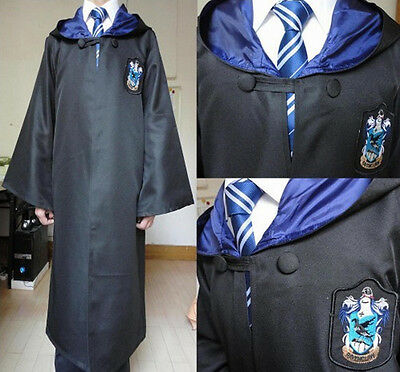 Harry Potter Adult Robe Cloak Cape Gryffindor/Slytherin/Ravenclaw Christmas Gift