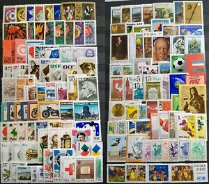 Worldwide Stamp Lots: Poland MNH - 150 Different Stamps in Full Sets or Singles