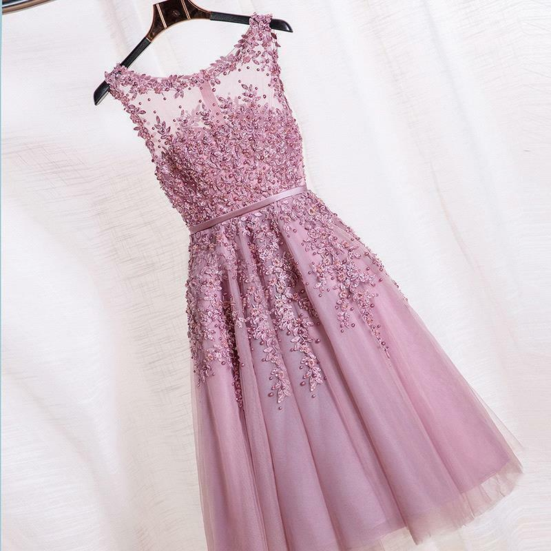 Evening Formal Party Short Dress Dress Dress Prom Ball Gown Homecoming Bridesmaid New dfceff