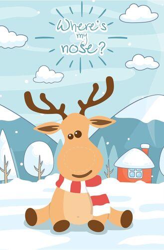 Happium-Fiesta Navidad Juego Pin la nariz en el Reno X 24 narices