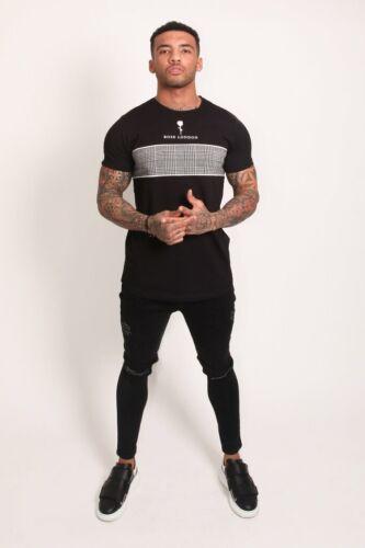 Rose London T Shirt Mens Muscle Short Sleeve Top Smart Summer Sik King Gym Tee