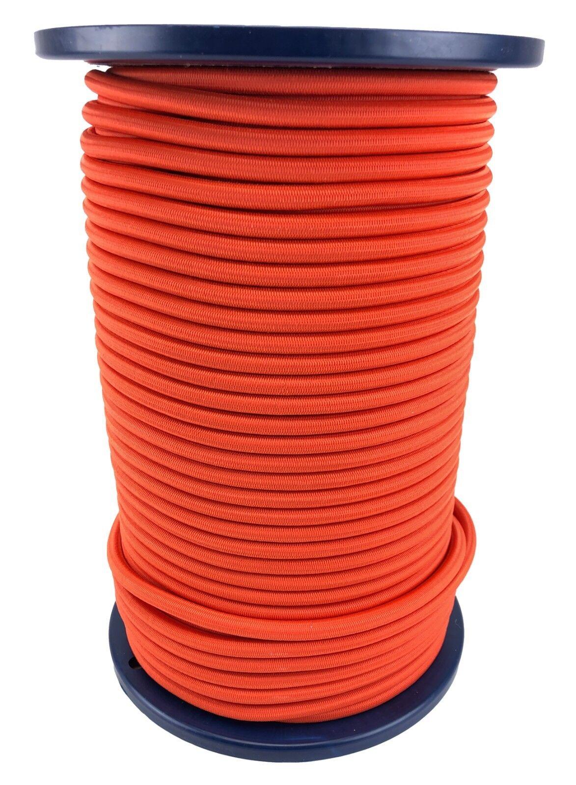 8mm Arancione Bungee Elastico Corda Cordicella Elastica Corda UV Stabile