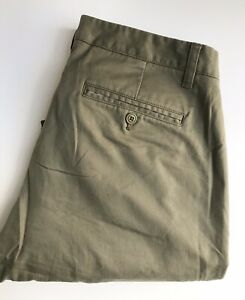 Bonobos-Pants-Chinos-35-x-30-Light-Olive-Tailored-Fit-Cotton-Exc-Cond