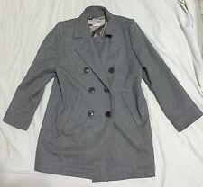 Rare Yves Saint Laurent Paris Rive Gauche Wool peacoat YSL Grey 38 FRANCE coat
