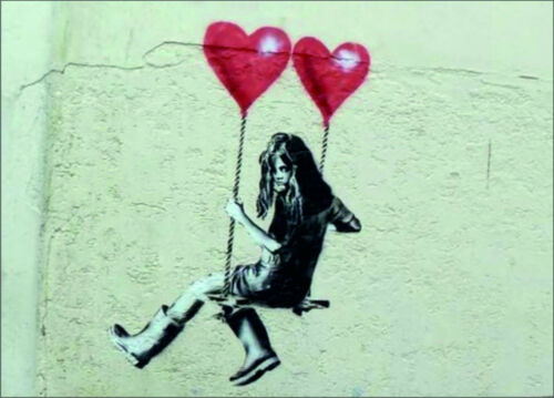 BANKSY GIRL WITH TWO BALLOONS VINYL STICKERS CAR VAN TRUCK TAXI LORRY