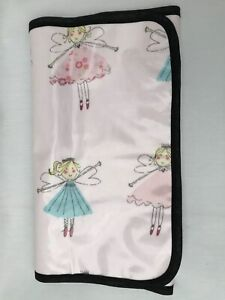 Pink Fairies Oilcloth Wipe Clean Baby Travel Changing Mat Quality Handmade