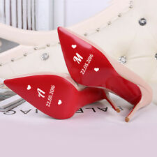 Pegatinas zapatos boda para novia personalizadas con iniciales y fecha