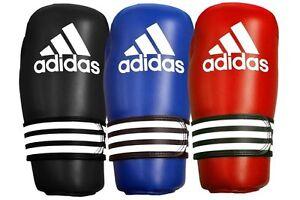 Arrastrarse capturar Residuos  Adidas Kick Boxing Gloves Pro Blue Red ITF WAKO Pointfighter Open Palm Gl |  eBay