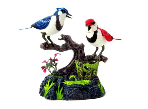 Blue Jays Realistic Chirping /& Singing Birds Gift Set Desktop Display New