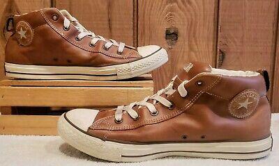 converse all star street leather mid marron