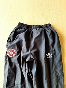 Hearts Tracksuit Bottoms. Small Adults. Official Umbro Blue Football Track Pants