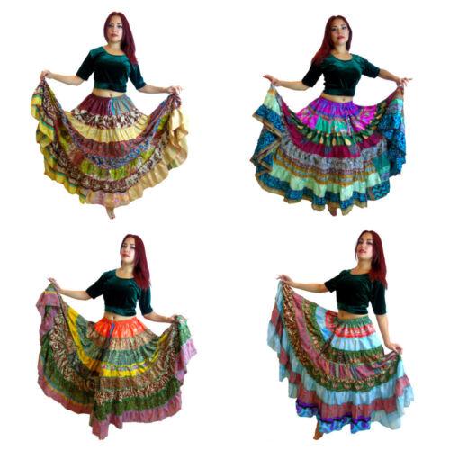 OFFER  Tribal Gypsy BellyDance Sari Peasant Boho Skirt Banjara Bauchtanz Röcke I