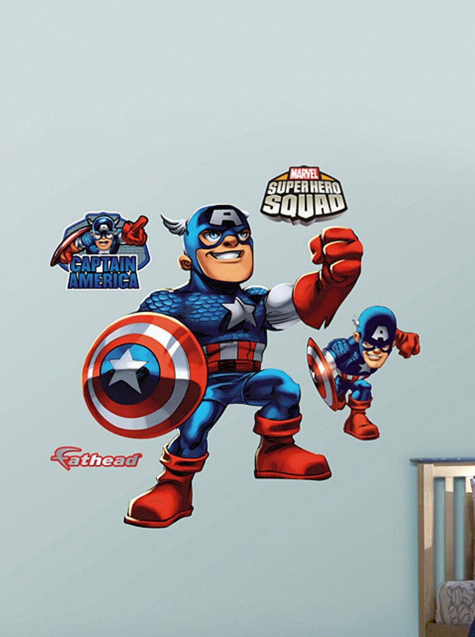 Fathead Super Hero Squad Capitán América Marvel Comics parojo decoración nuevo 96-96061