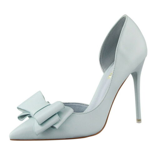 Women Stiletto High Heels Pointed Closed Toe Classic Slip On Dress Pumps Shoes