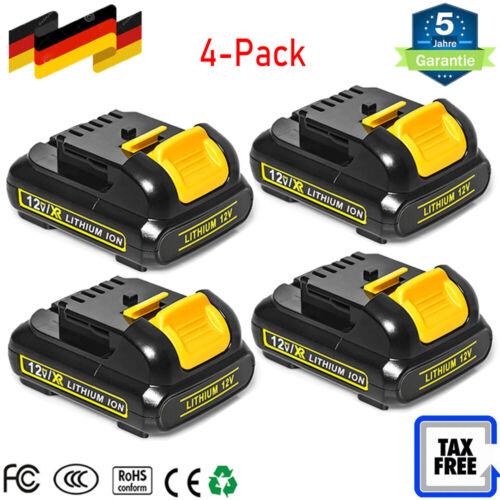 4X 10,8V DCB120 Akku Für DEWALT DCB127 DCB121 XR Li-Ion 2,0Ah DCD710 DCF815 12V