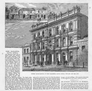 1881-Antique-Print-SOUTH-AFRICA-PORT-ELIZABETH-Street-Improvements-31