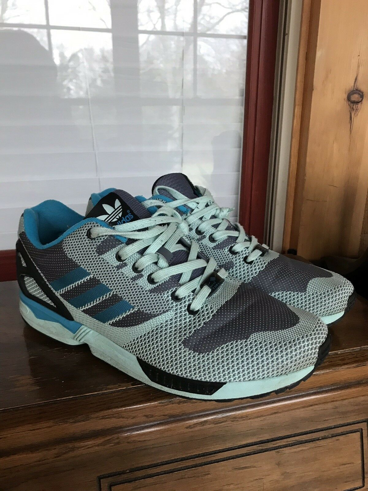 the latest a8bc0 5e3c0 Gli uomini è adidas zx flusso blu e nero grigio - verde taglia 12   A