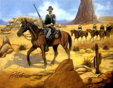 "African American Art ""Riding Point"" Buffalo Soldier Art Print by Henry C. Porter"