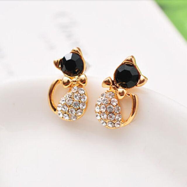 1 Pair Fashion Women Lady Elegant Crystal Rhinestone Ear Stud Earrings NEW