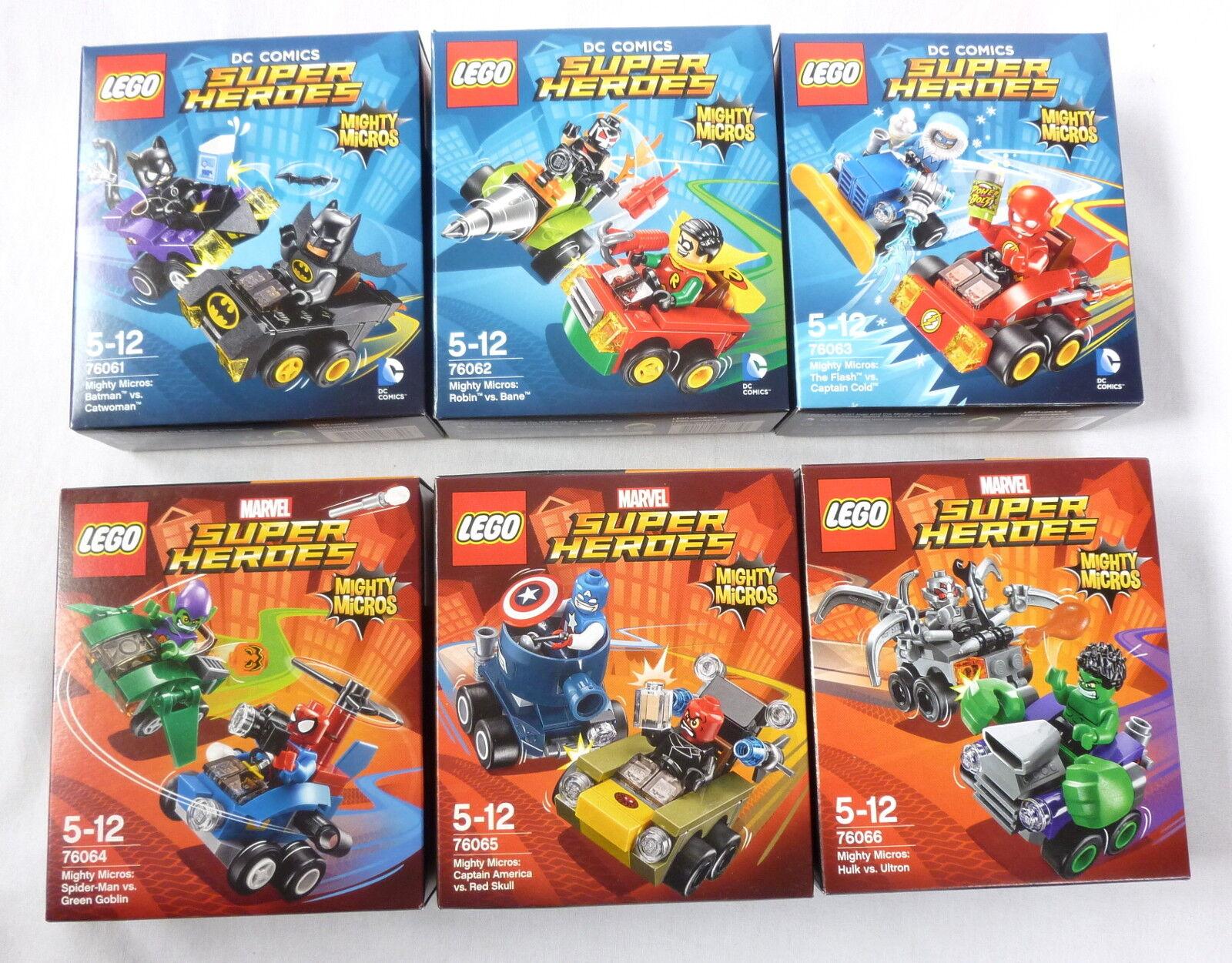 miglior reputazione LEGO Super Heroes Heroes Heroes Mighty Micros 76061 76062 76063 76064 76065 76066 MISB Series1  acquisto limitato