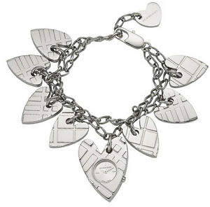 Image Is Loading New Burberry Check Silver Heart Charm Swiss S