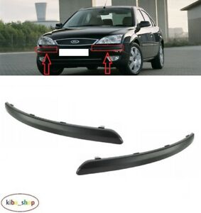 FOR FORD MONDEO MK3 2004-2007 NEW FRONT BUMPER MOLDING TRIM RIGHT O//S BLACK