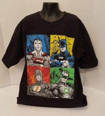 Green Lantern T-Shirt All Sizes Superman JLA FOUR HEROES Flash Batman