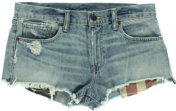 Ralph Lauren Shorts Destroy Cut Off Mini Size 30 AU12 NEW Womens Denim & Supply