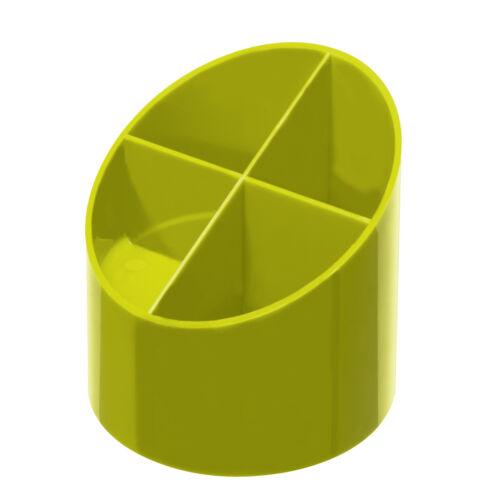 Herlitz Köcher rund hochglanz Color Blocking sporty lemon Stifthalter Becher