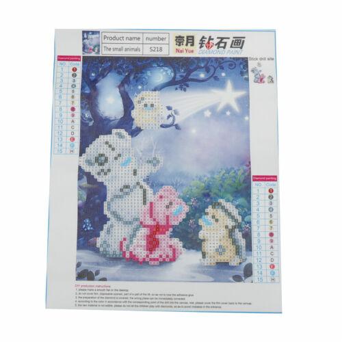1Set Diamond Painting Cross Stitch Cartoon bear Mosaic 5D Diamond Embroidery CL