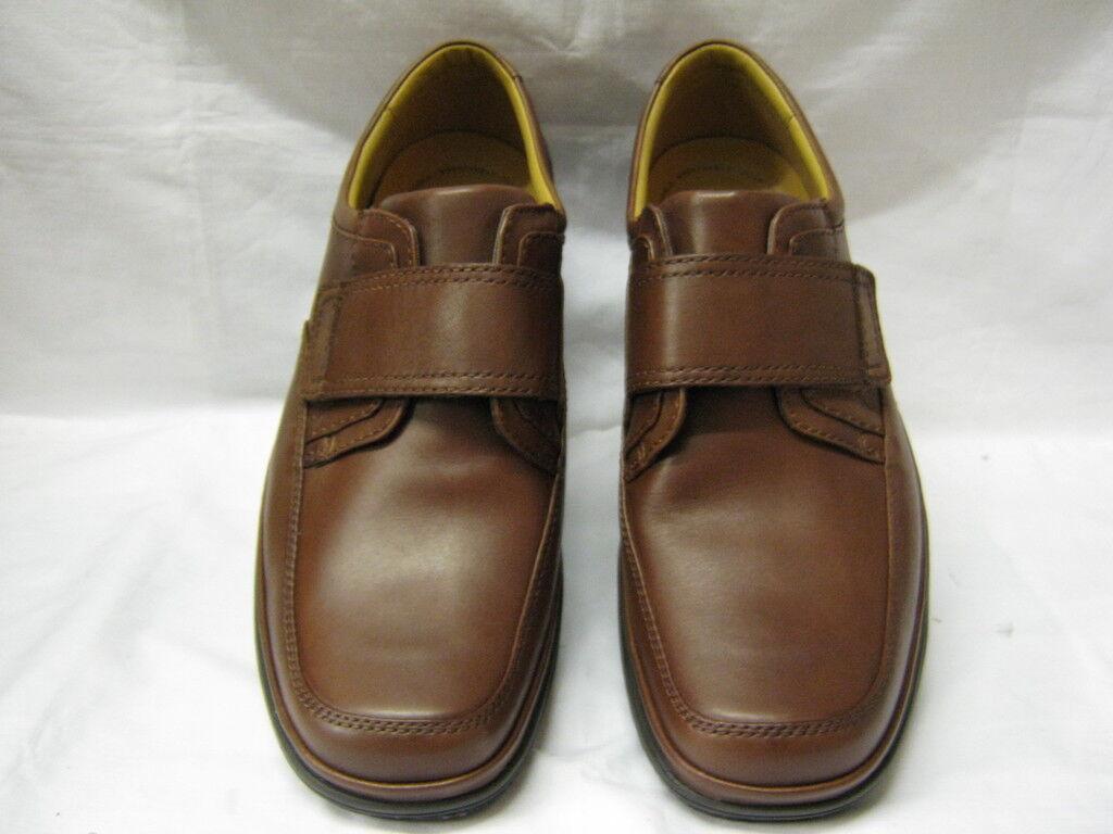 Clarks Schnelle Wende Mahagoni-Leder Schuhgröße UK 6 - 12 H- Passform