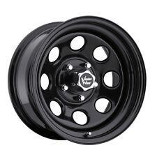 "4-NEW Vision 85 Soft 8 17x8 5x127/5x5"" +0mm Gloss Black Wheels Rims"