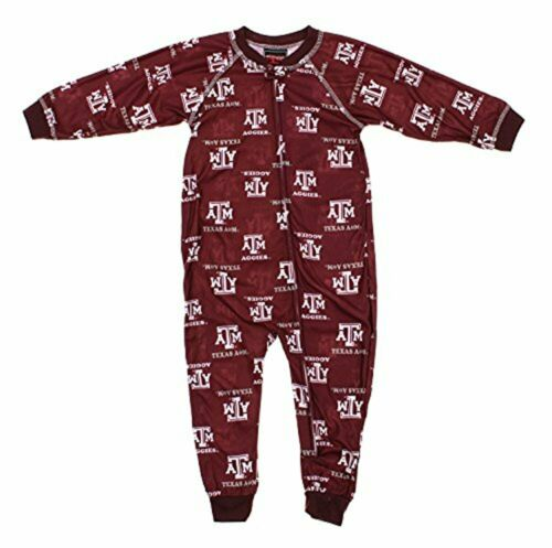 Maroon Outerstuff NCAA Toddler Texas A/&M Aggies Raglan Zip-up Coverall Sleeper