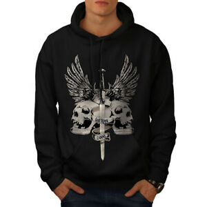 Wellcoda The Last King Death Mens Hoodie, Skull Casual Hooded Sweatshirt