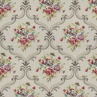 Dollhouse Miniature Shabby Chic Wallpaper Mauve and Brown Floral Flowers 1:12