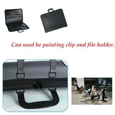 ART WORK PICTURE PAINTING FOLDER BAG WATER PROOF PORTFOLIO DESIGN BLACK 4 SIZES